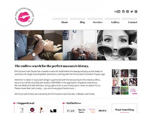 Flirt Custom Lash • Website Design