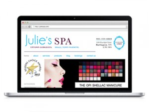 Julie's SPA • Website Design