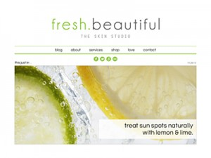 Fresh Beautiful • Website Design